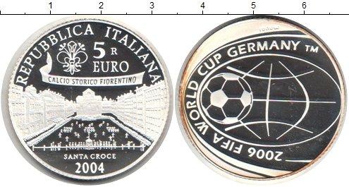 Картинка Монеты Италия 5 евро Серебро 2004