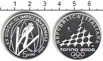 Изображение Монеты Италия 5 евро 2005 Серебро Proof Олимпиские игры . Пр