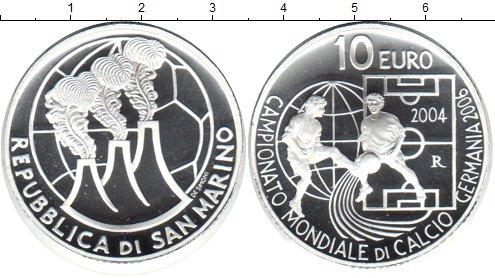 Картинка Монеты Сан-Марино 10 евро Серебро 2004