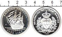 Изображение Мелочь Сан-Марино 5.000 лир 1995 Серебро Proof Америго Веспучи. Кор