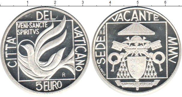 Картинка Монеты Ватикан 5 евро Серебро 2005