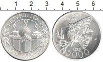 Изображение Монеты Сан-Марино 5.000 лир 2001 Серебро UNC- Голубь