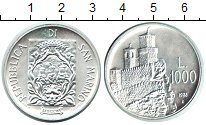 Изображение Монеты Сан-Марино 1.000 лир 1988 Серебро UNC- Крепость