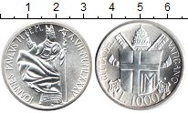 Изображение Монеты Ватикан 1.000 лир 1985 Серебро UNC- Иоанн Павел II