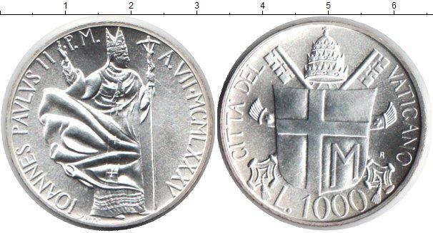 Картинка Монеты Ватикан 1.000 лир Серебро 1985