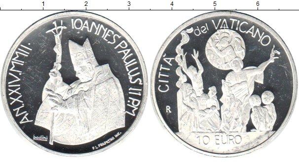 Картинка Монеты Ватикан 10 евро Серебро 0