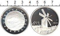 Изображение Монеты Мальта 5 фунтов 1977 Серебро Proof- Ветряная мельница