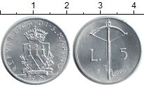 Изображение Монеты Сан-Марино 5 лир 1979 Алюминий UNC-