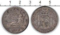 Изображение Монеты Испания 2 песеты 1870 Серебро XF Временное правительс