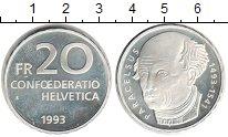 Изображение Монеты Швейцария 20 франков 1993 Серебро Proof- Парацельс