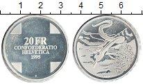 Изображение Монеты Швейцария 20 франков 1995 Серебро Proof- Мифологическая Raeti