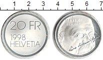 Изображение Монеты Швейцария 20 франков 1998 Серебро UNC- Мейер
