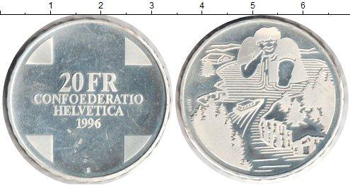 Картинка Монеты Швейцария 20 франков Серебро 1996