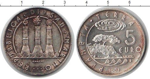 Картинка Монеты Сан-Марино 5 евро Серебро 2008