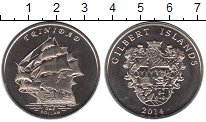 Изображение Мелочь Кирибати 1 доллар 2014 Медно-никель UNC Острова Гилберт. Три