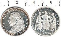 Изображение Монеты Ватикан 10 евро 2005 Серебро UNC- Папа Бенедикт XVI. Т