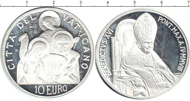 Картинка Монеты Ватикан 10 евро Серебро 2008