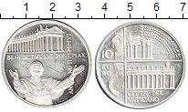Изображение Монеты Ватикан 10 евро 2006 Серебро UNC- Папа Бенедикт XVI. Д
