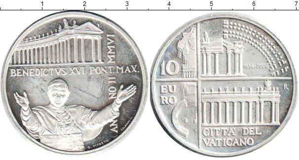 Картинка Монеты Ватикан 10 евро Серебро 2006
