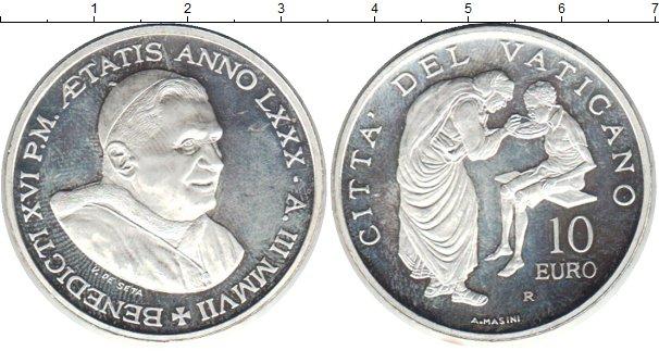 Картинка Монеты Ватикан 10 евро Серебро 1999
