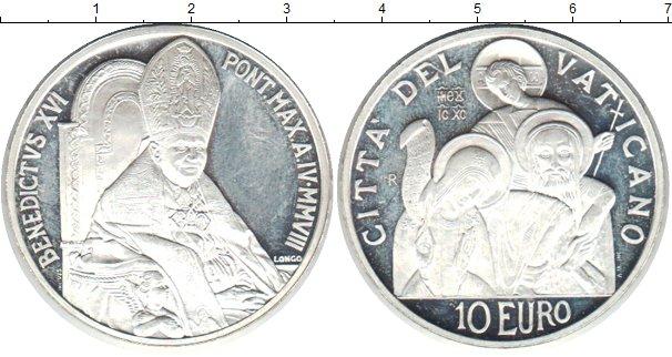 Картинка Монеты Ватикан 10 евро Серебро 1991