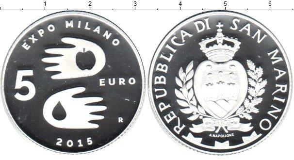 Картинка Монеты Сан-Марино 5 евро Серебро 2015