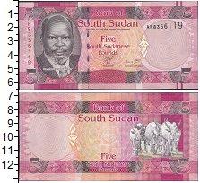 Изображение Боны Судан 5 фунтов 0  UNC- Портрет