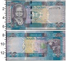 Изображение Боны Судан 10 фунтов 0  UNC- Портрет. Буйвол