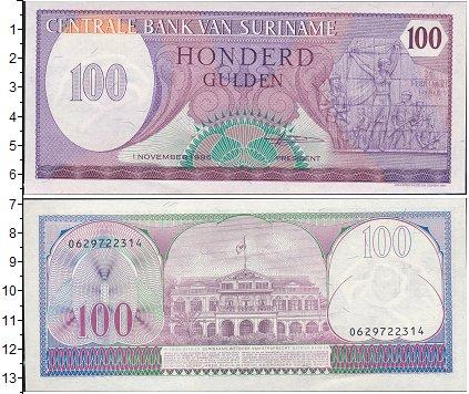 Картинка Боны Суринам 100 гульденов  1996