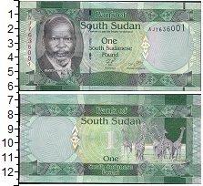 Изображение Боны Судан 1 фунт 0  UNC- Портрет. Жирафы
