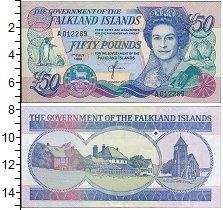 Изображение Боны Фолклендские острова 50 фунтов 1990  UNC-