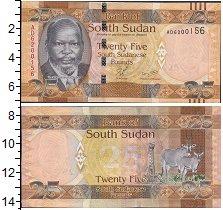 Изображение Боны Судан 25 фунтов 0  UNC- Портрет. Антилопы