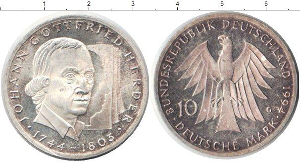 Картинка Монеты ФРГ 10 марок Серебро 1994