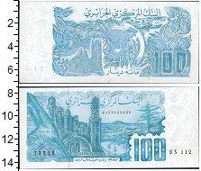 Изображение Банкноты Алжир 100 динар 0  UNC- Мечеть и здания на б