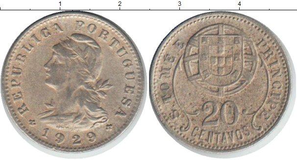 Картинка Монеты Сан-Томе и Принсипи 20 сентаво Медно-никель 1929