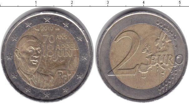 Картинка Монеты Франция 2 евро Биметалл 2010