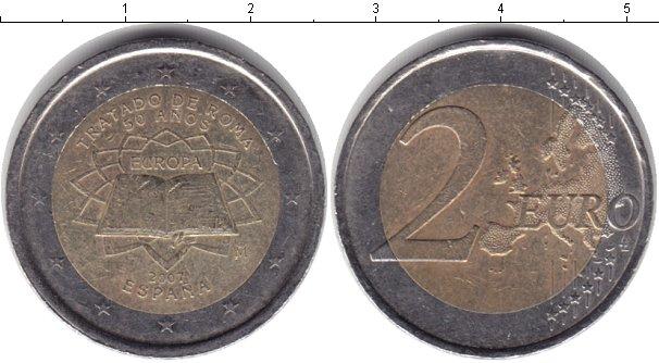 Картинка Монеты Испания 2 евро Биметалл 2007