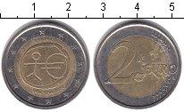 Изображение Монеты Испания 2 евро 2009 Биметалл XF 10 ЛЕТ ВВЕДЕНИЯ ЕВРО