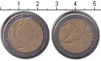 Изображение Монеты Италия 2 евро 2004 Биметалл XF 50 лет Всемирной про