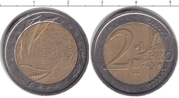 Картинка Монеты Италия 2 евро Биметалл 2004