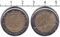 Изображение Монеты Испания 2 евро 2009 Биметалл VF 10 ЛЕТ ВВЕДЕНИЯ ЕВРО