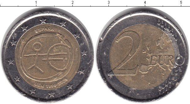 Картинка Монеты Испания 2 евро Биметалл 2009