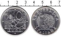 Изображение Монеты Италия 10 евро 2005 Серебро UNC- 60 лет окончания IIМ