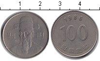 Изображение Барахолка Южная Корея 100 вон 1986 Медно-никель XF