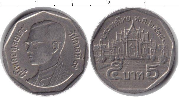 Картинка Дешевые монеты Таиланд 5 бат Медно-никель 1994