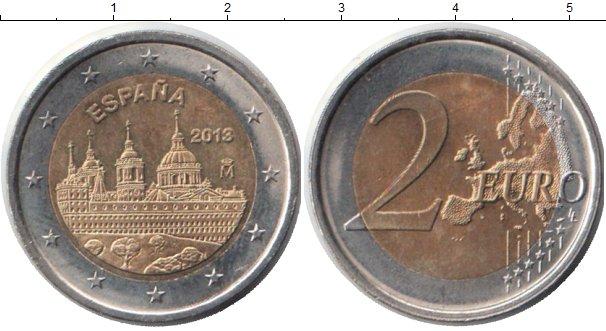 Картинка Монеты Испания 2 евро Биметалл 2013