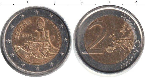 Картинка Монеты Испания 2 евро Биметалл 2014