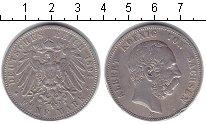 Изображение Монеты Саксония 5 марок 1894 Серебро XF Альберт