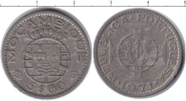 Картинка Монеты Мозамбик 5 эскудо Медно-никель 1971
