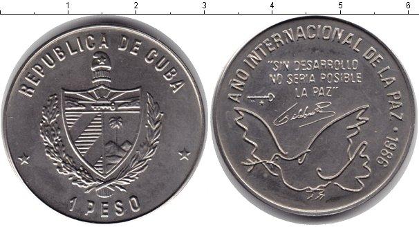 Картинка Монеты Куба 1 песо Медно-никель 1986